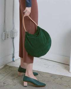 Green Suede Circle Tote