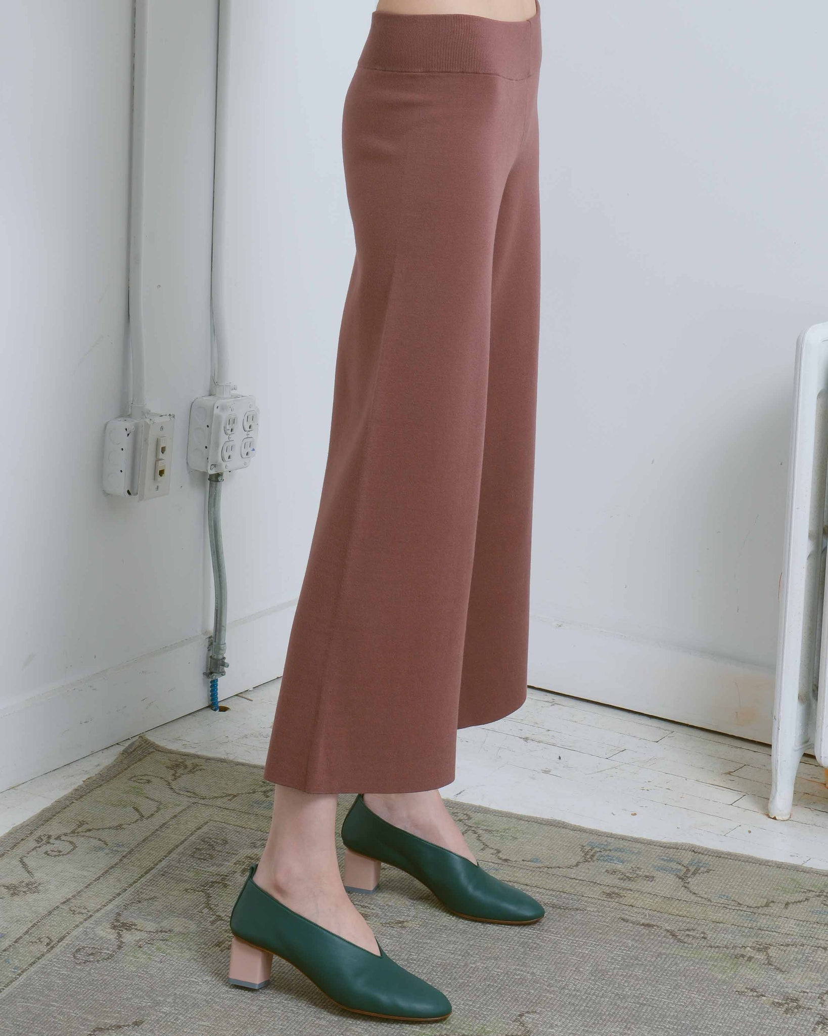 Brown Cropped Culottes