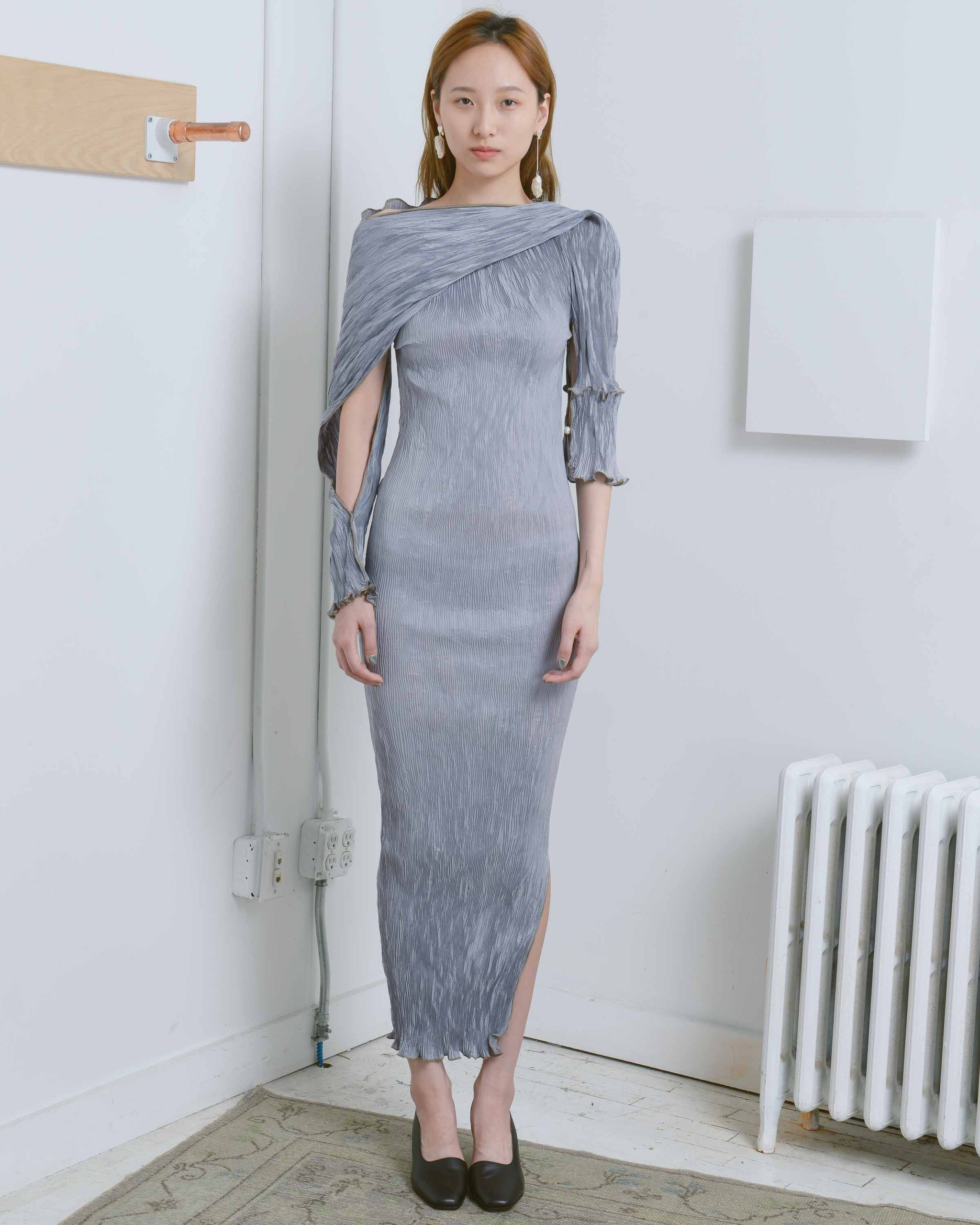 Techno-Pleat Skylar Dress