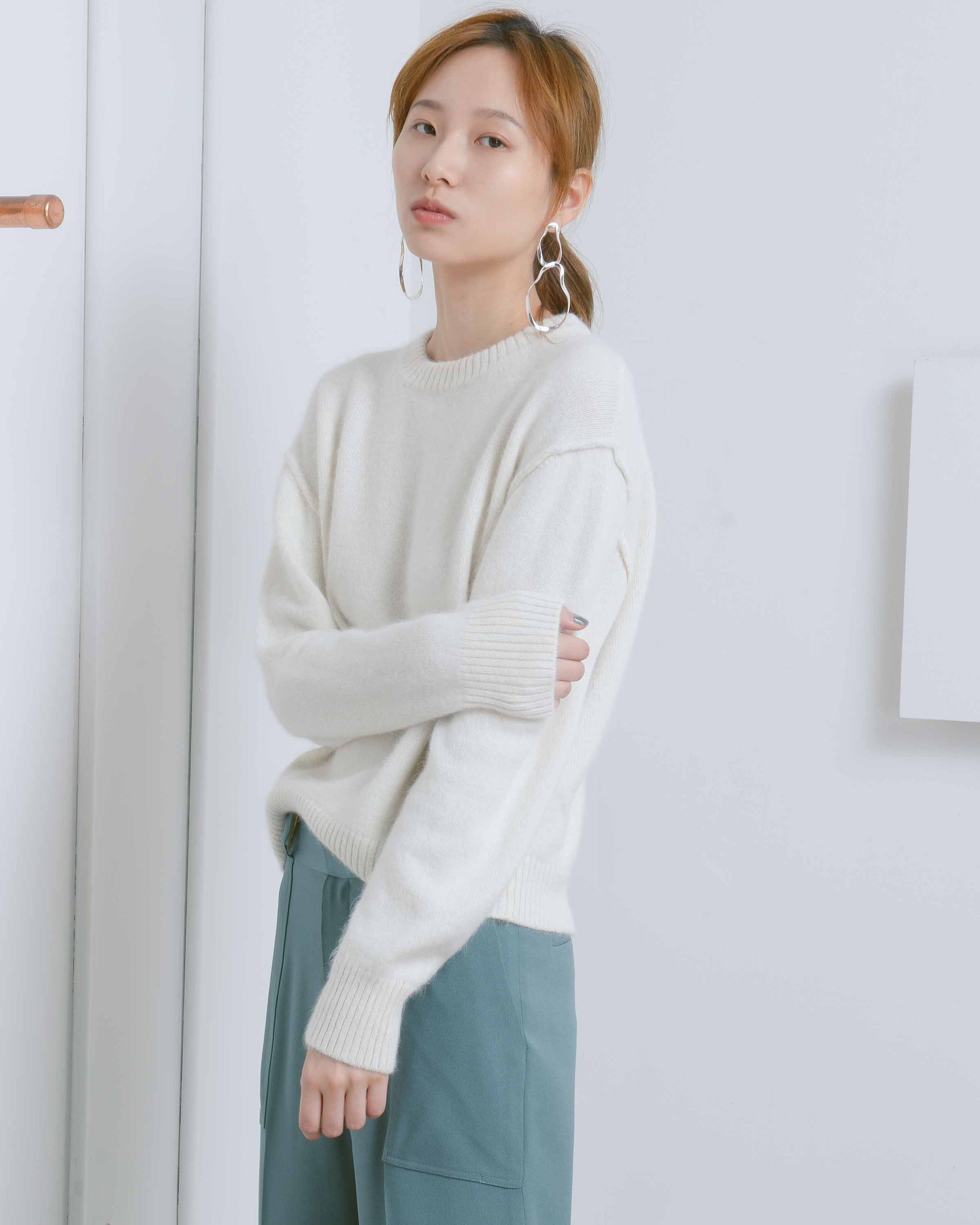 Shoulder Stitched Sweater