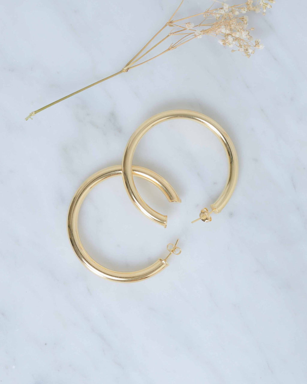 Gold Thick Hoops