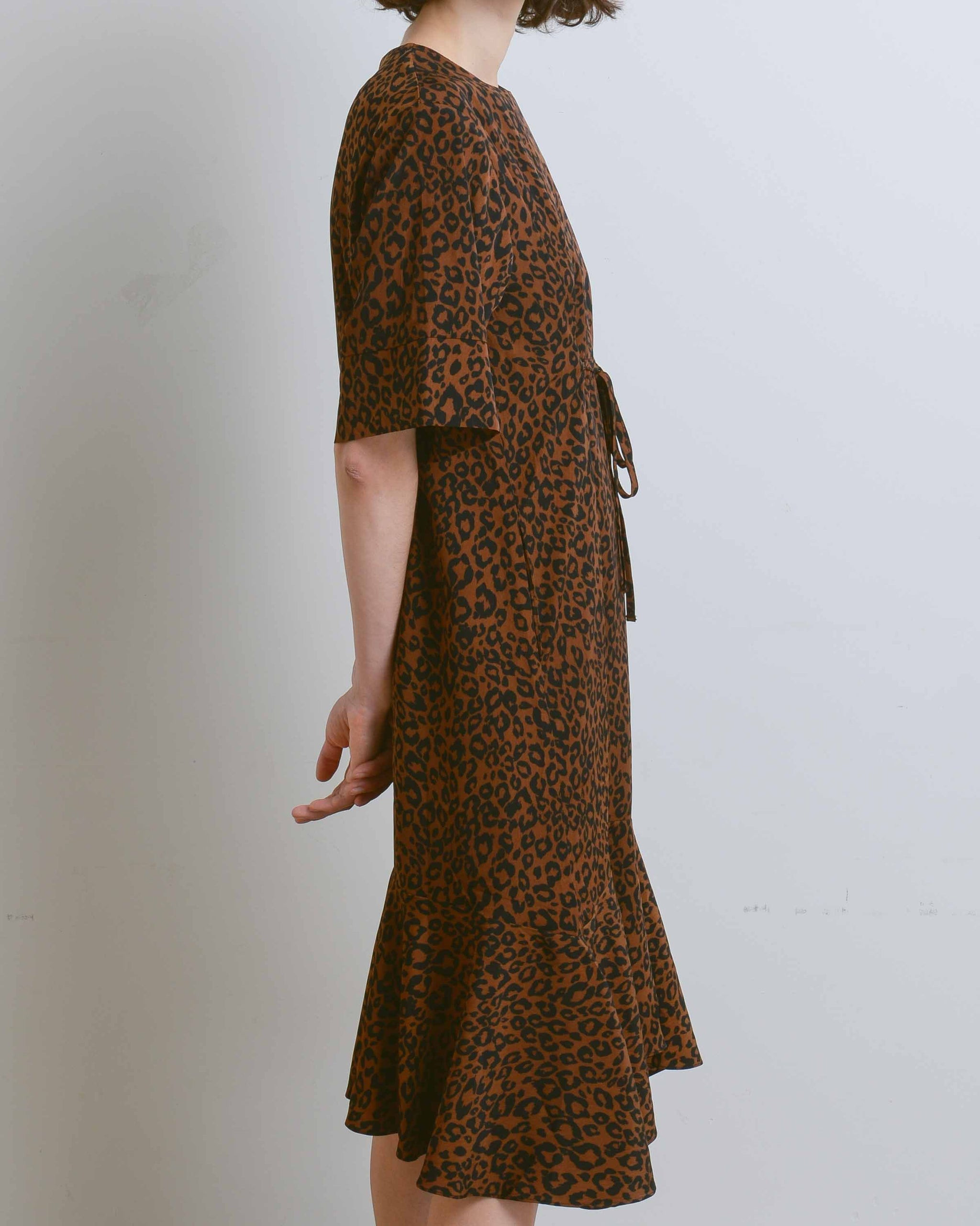 Brown Leopard Print Dress