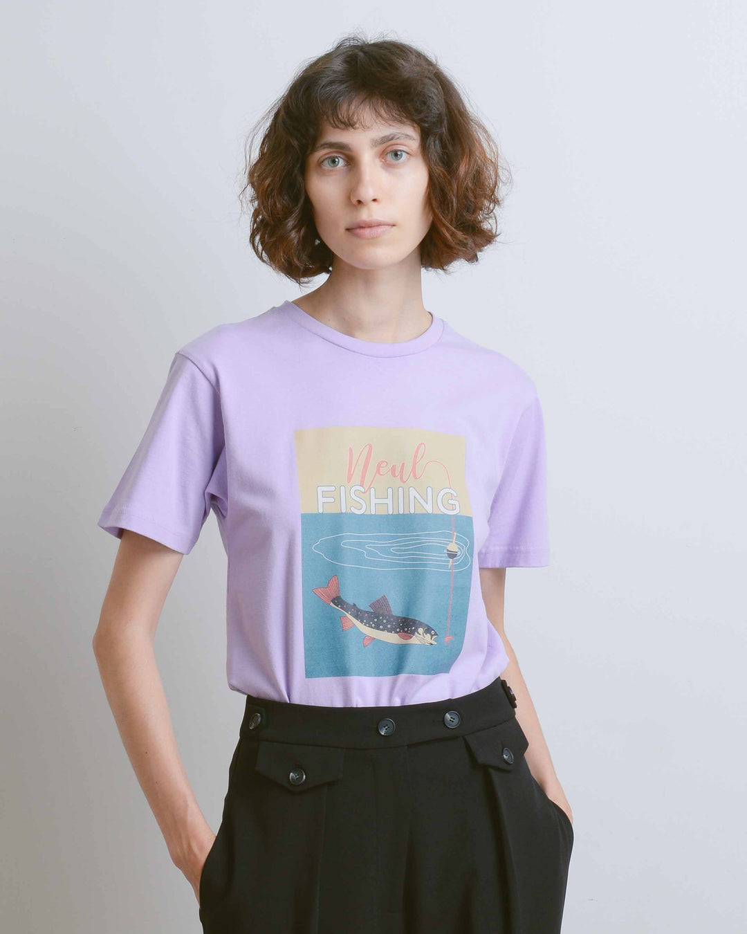 Lavender Vintage Fishing T-Shirt