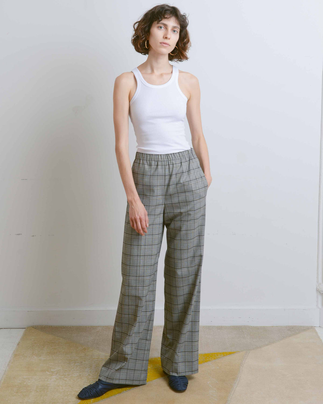Park Checked Pull On Pant