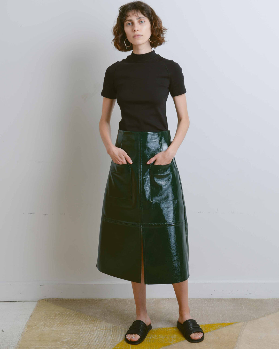 Forest Green High Waist Skirt