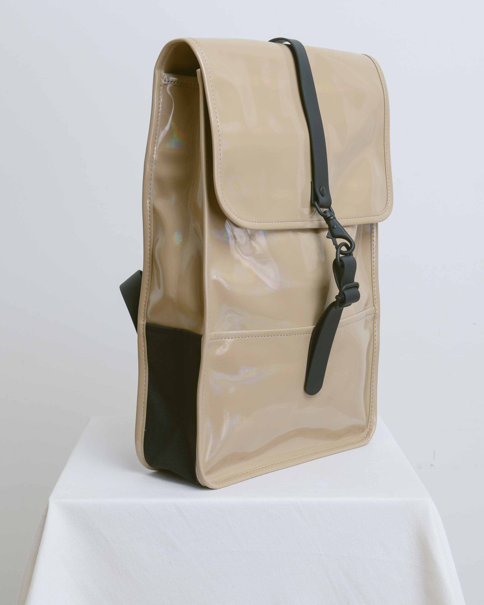 Beige Holographic Backpack Mini