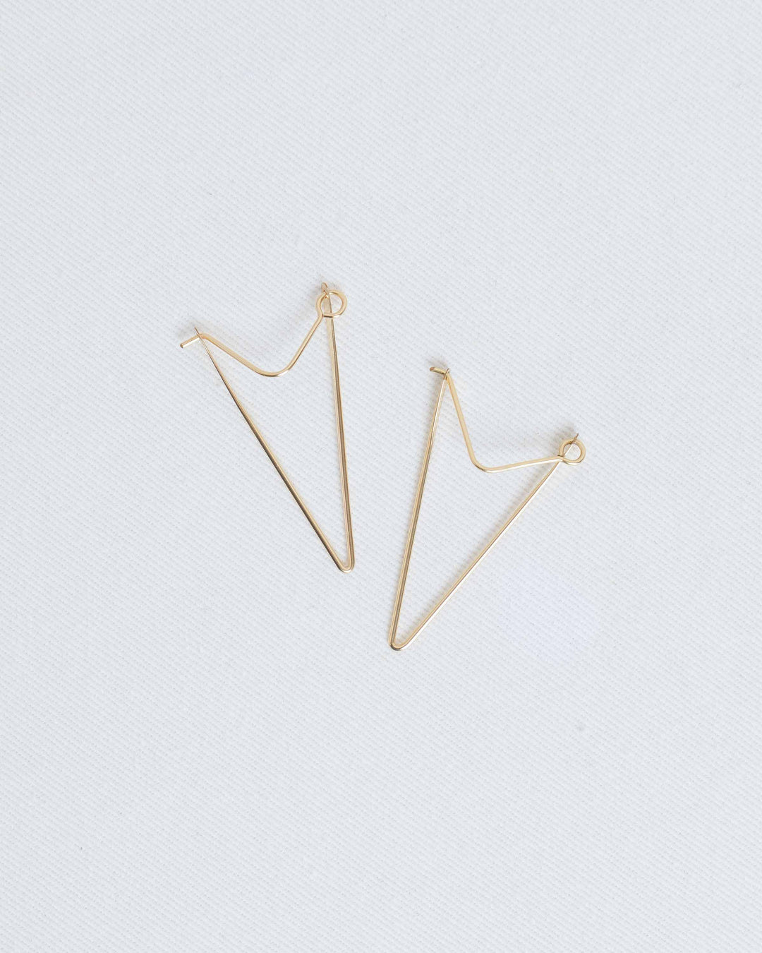 14k Gold Triangle Hoop Earrings