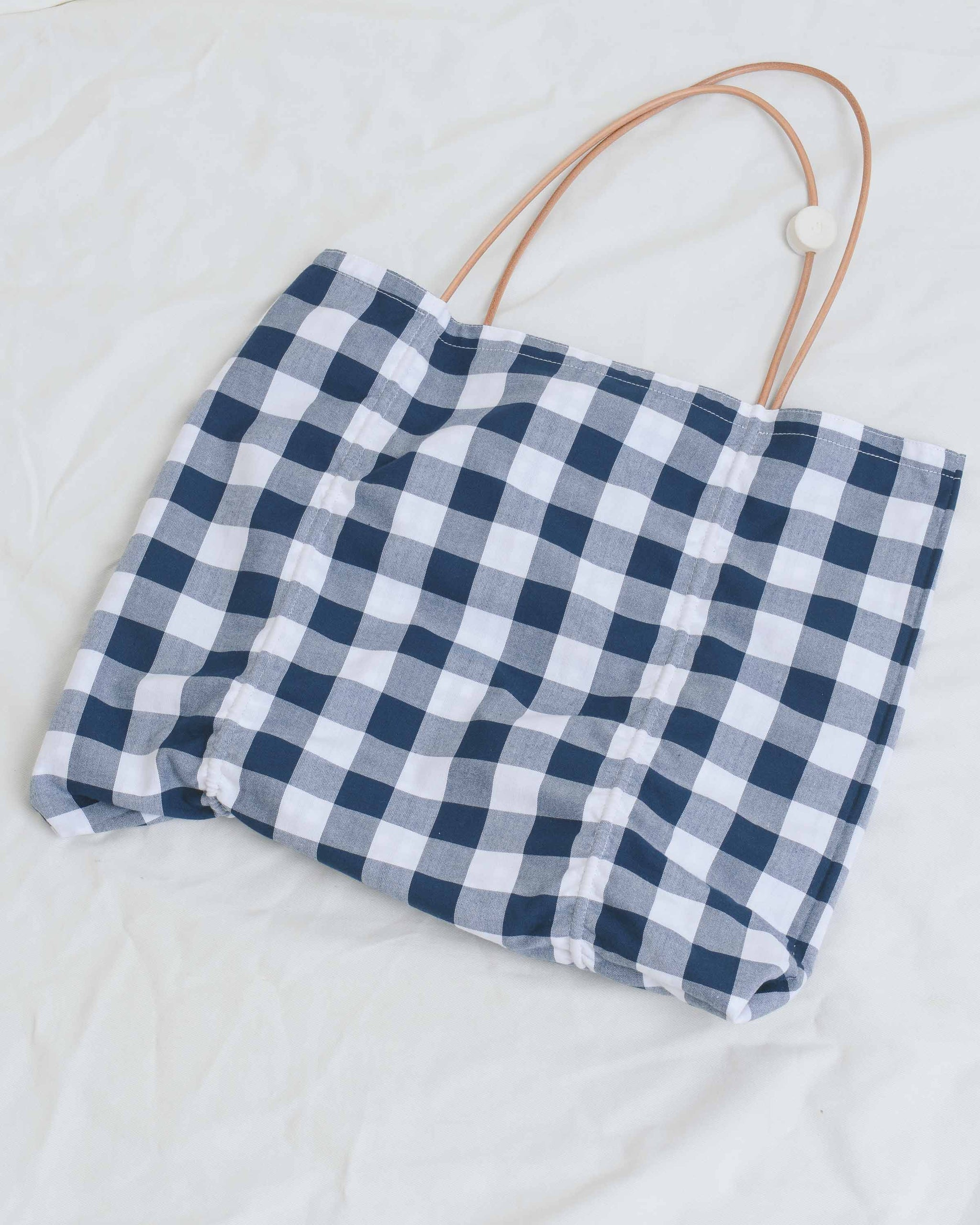Gingham Reversible Square Tote