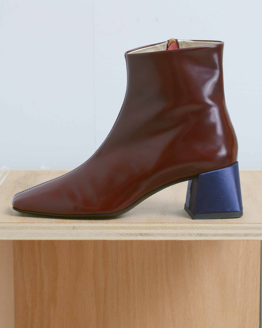 Oxblood Simple Boots