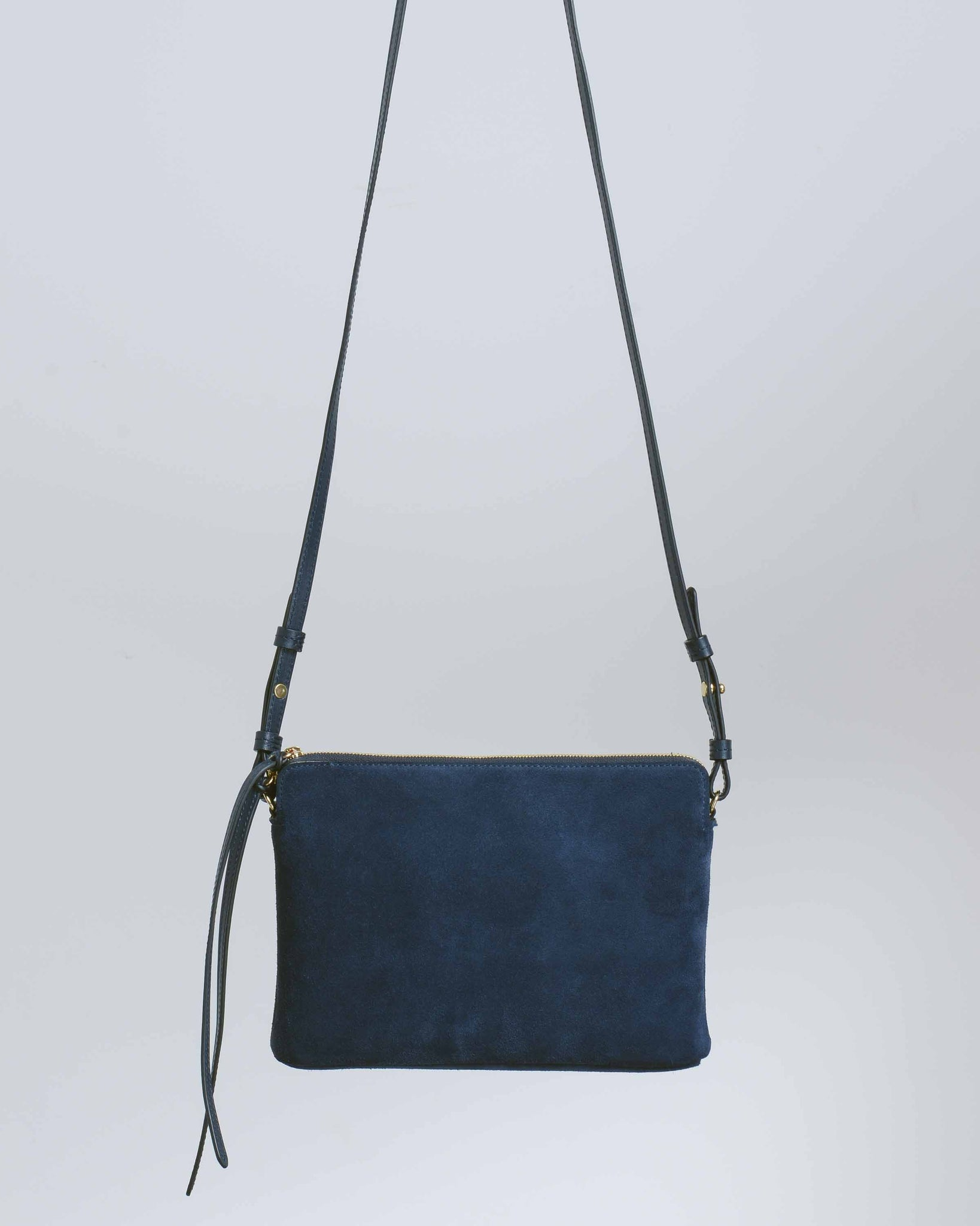 Blue Top Zipper Crossbody Bag