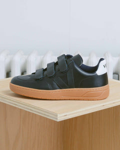 Black Natural Sole V-12 Velcro