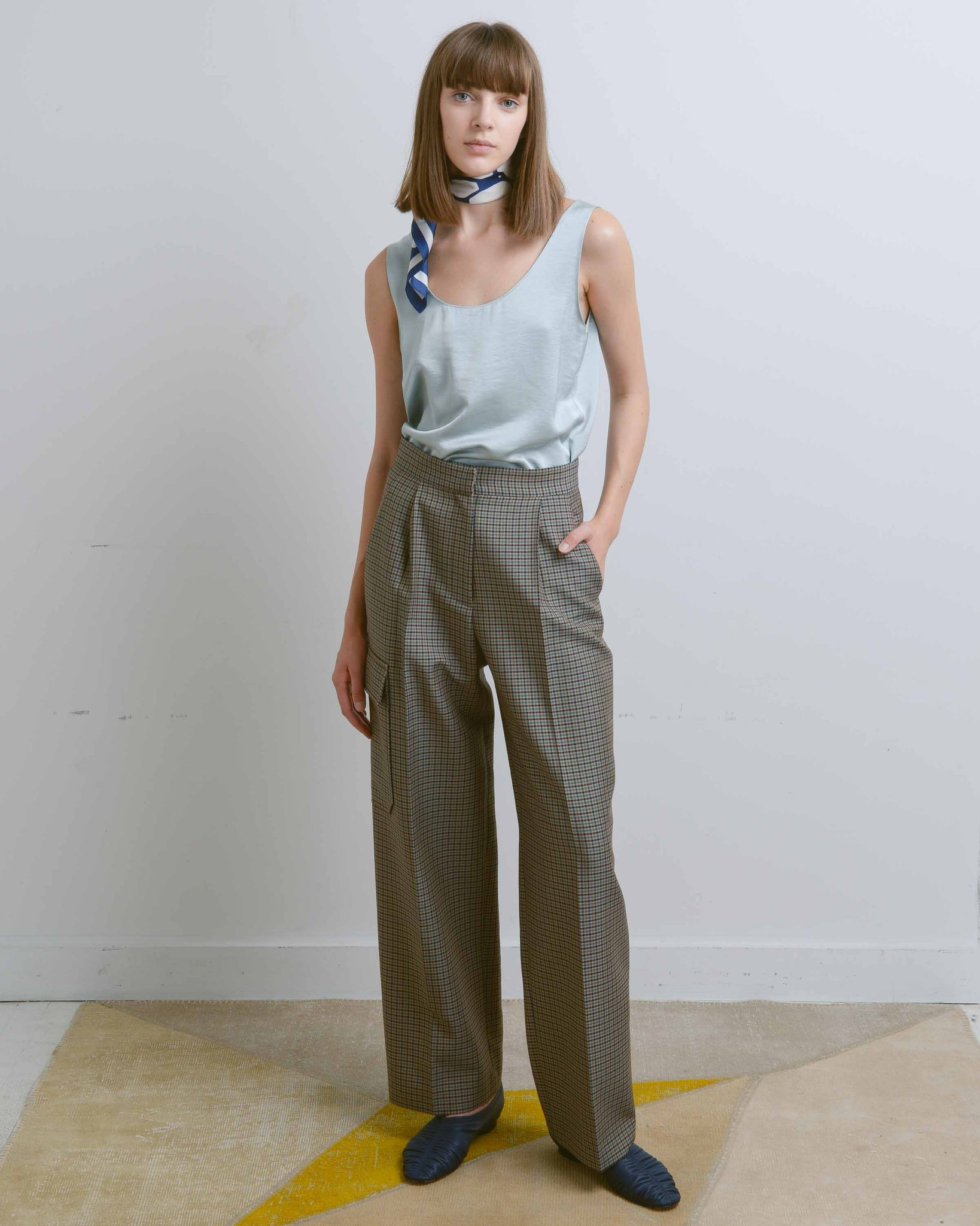 Tully Checked Wide Pant
