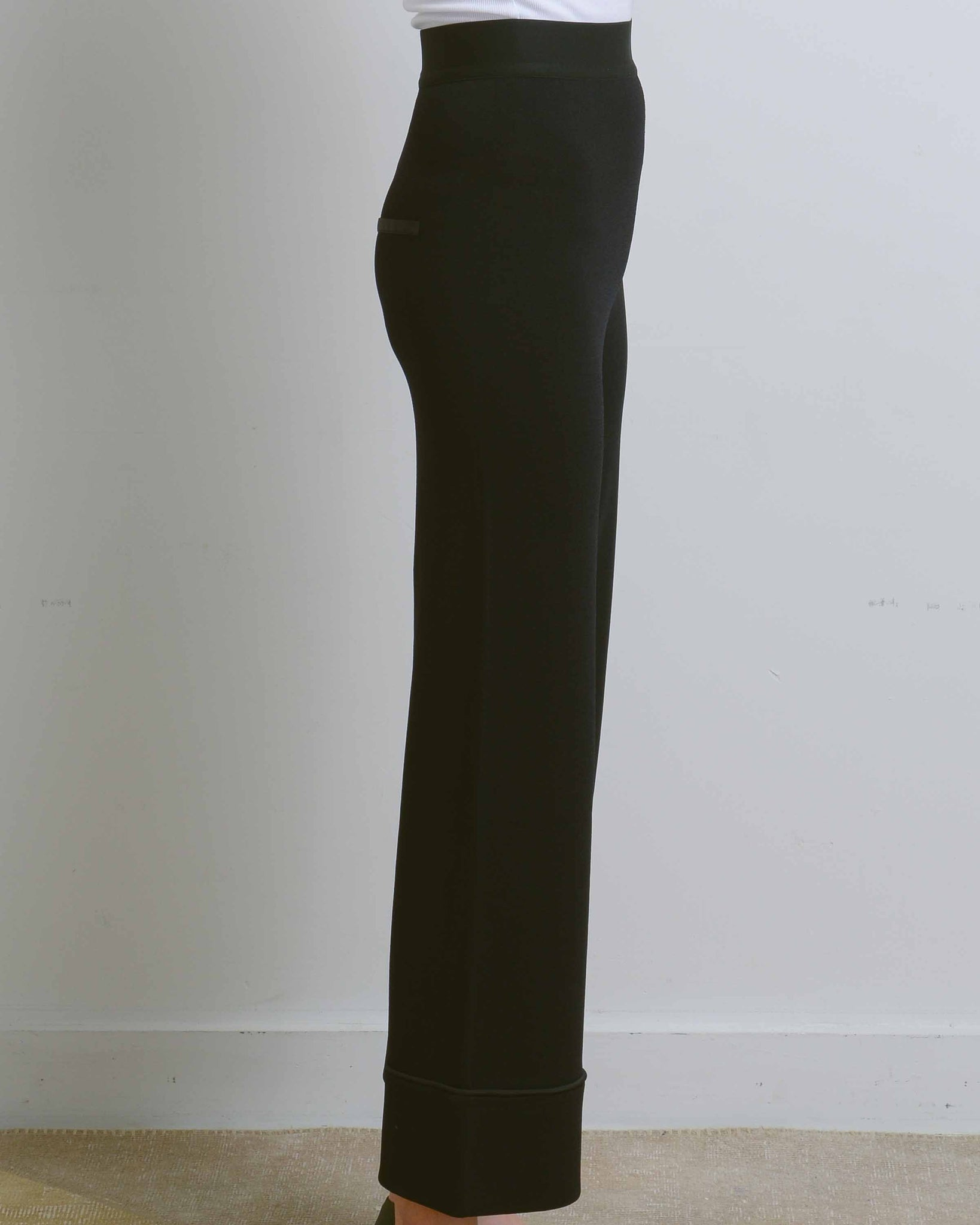 Black Griffin Wide Leg Pants