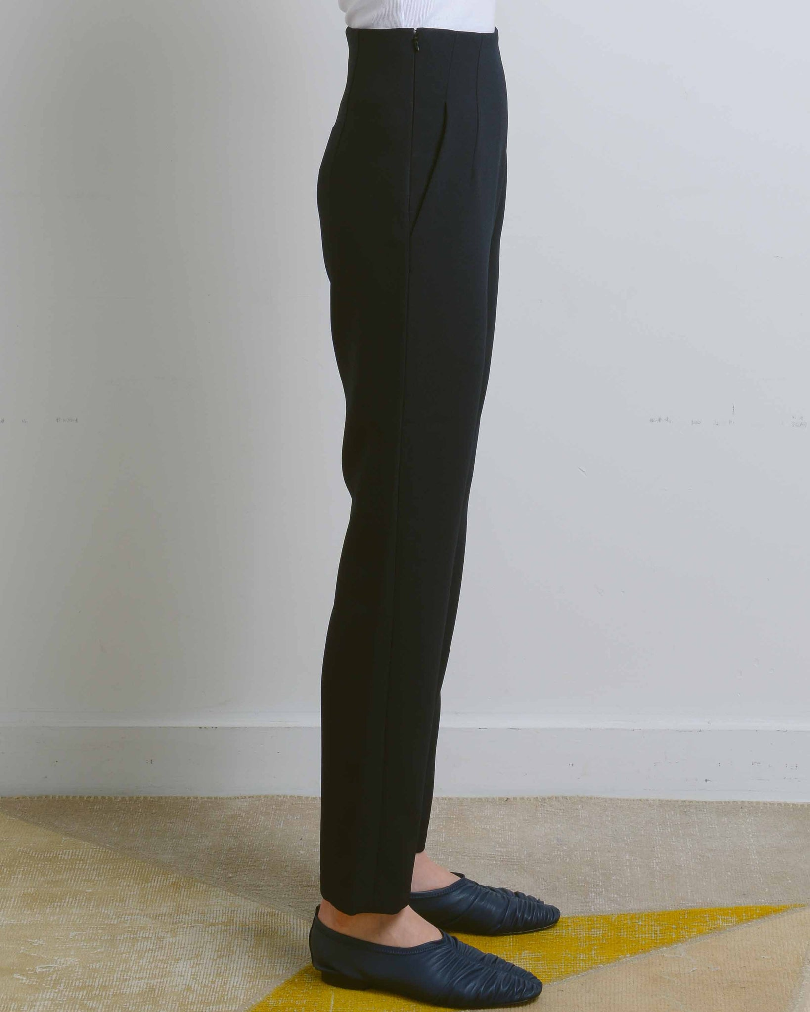 Navy High-Waist Sam Pant