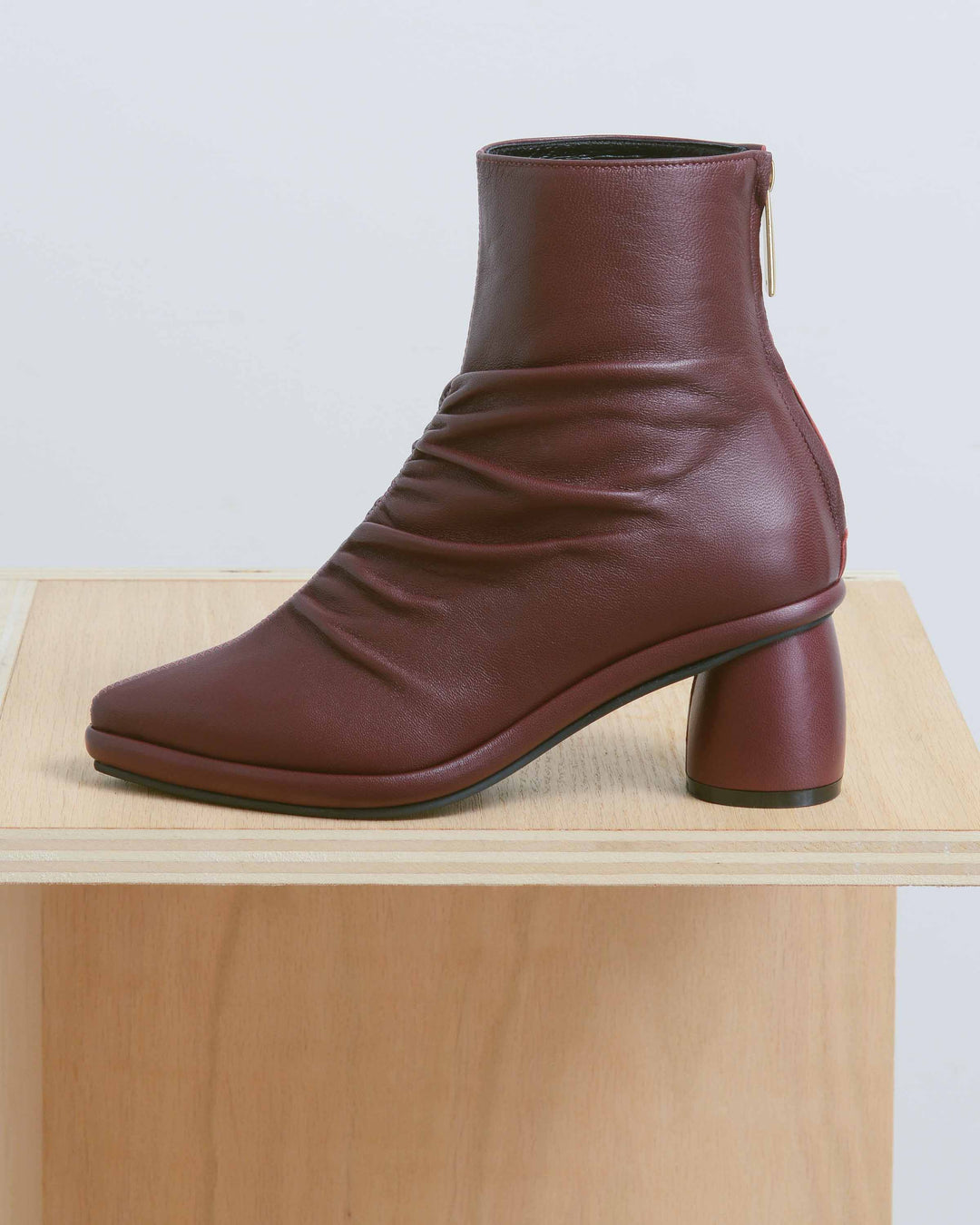 Shirring Middle Ankle Boots