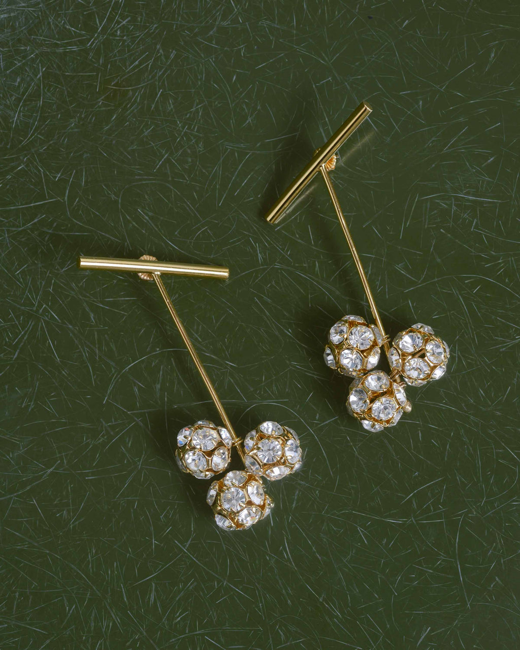 14k Gold Plated Brass Sputnik Earrings