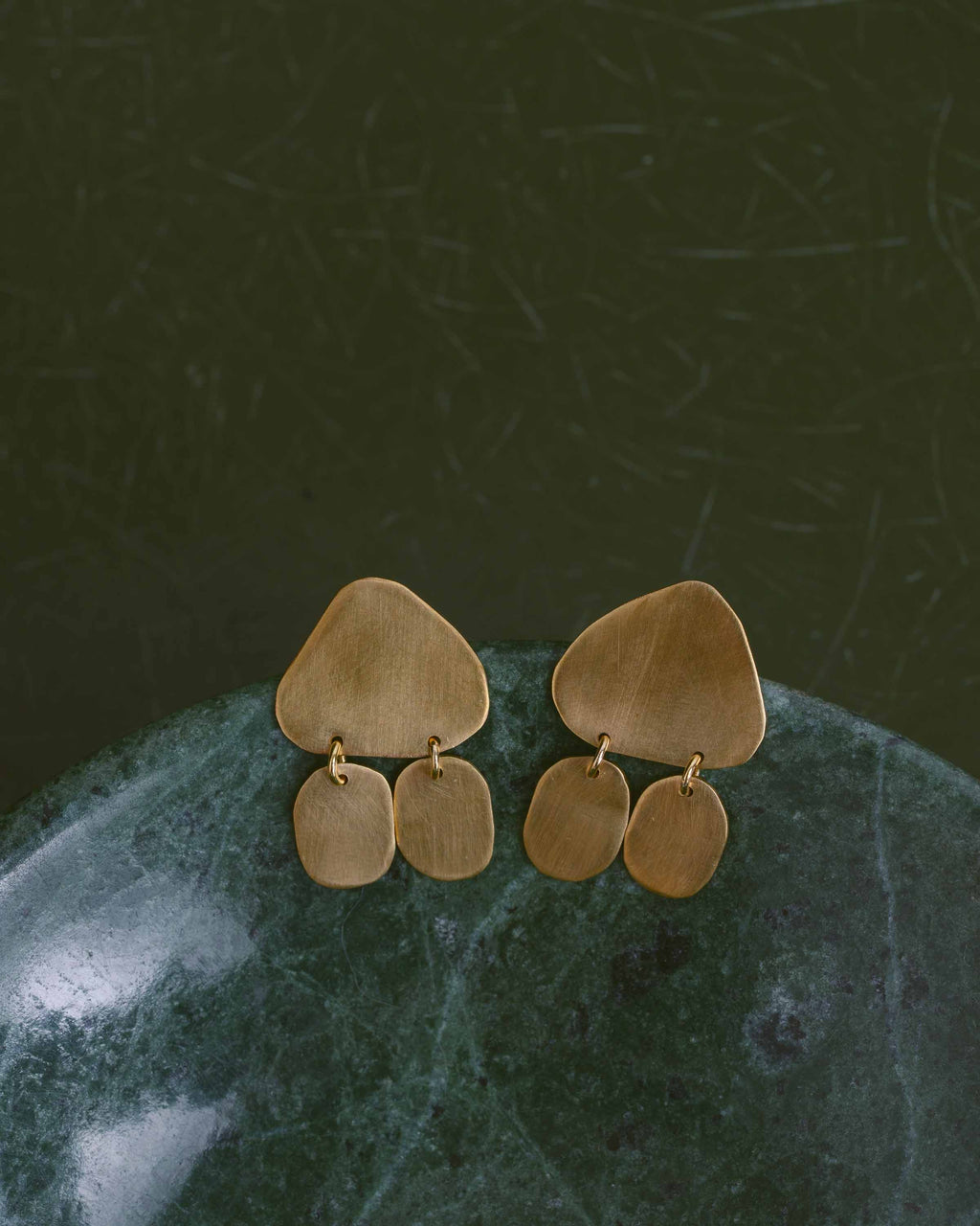 Brass Le Nez Earrings