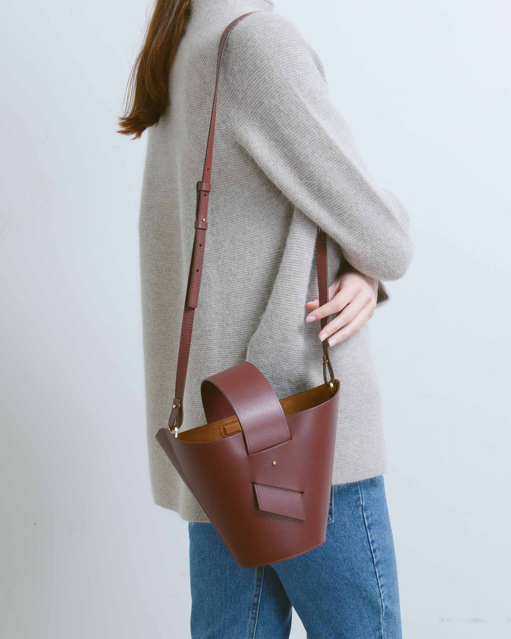 Burgundy Amphora Bag