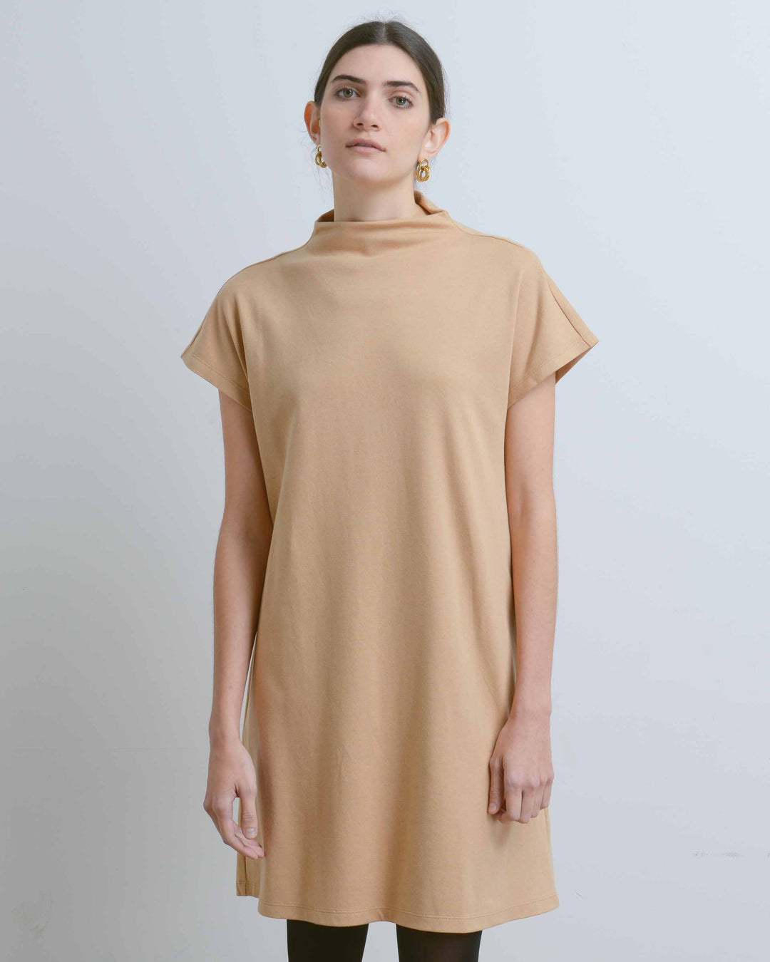 Coralline Mock Neck Pocket Dress