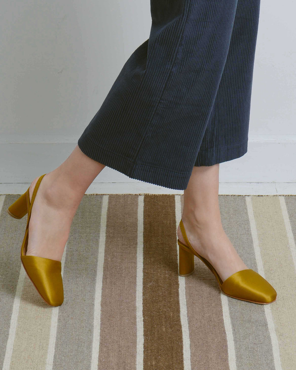 Yellow Felipa Heeled Sandal