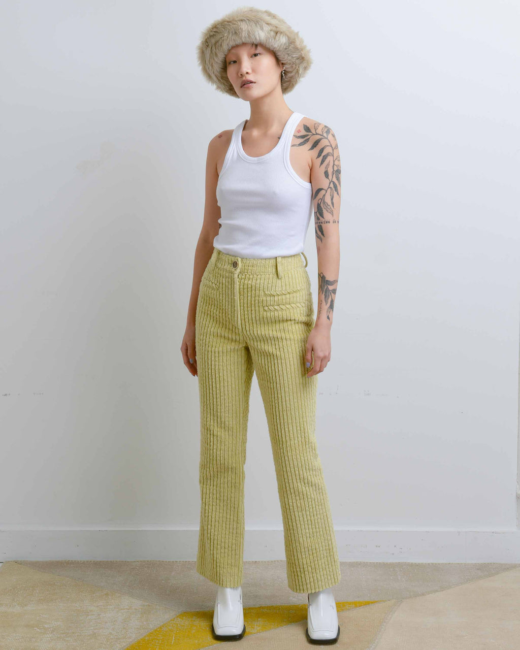 Green Corduroy Maeve Trousers