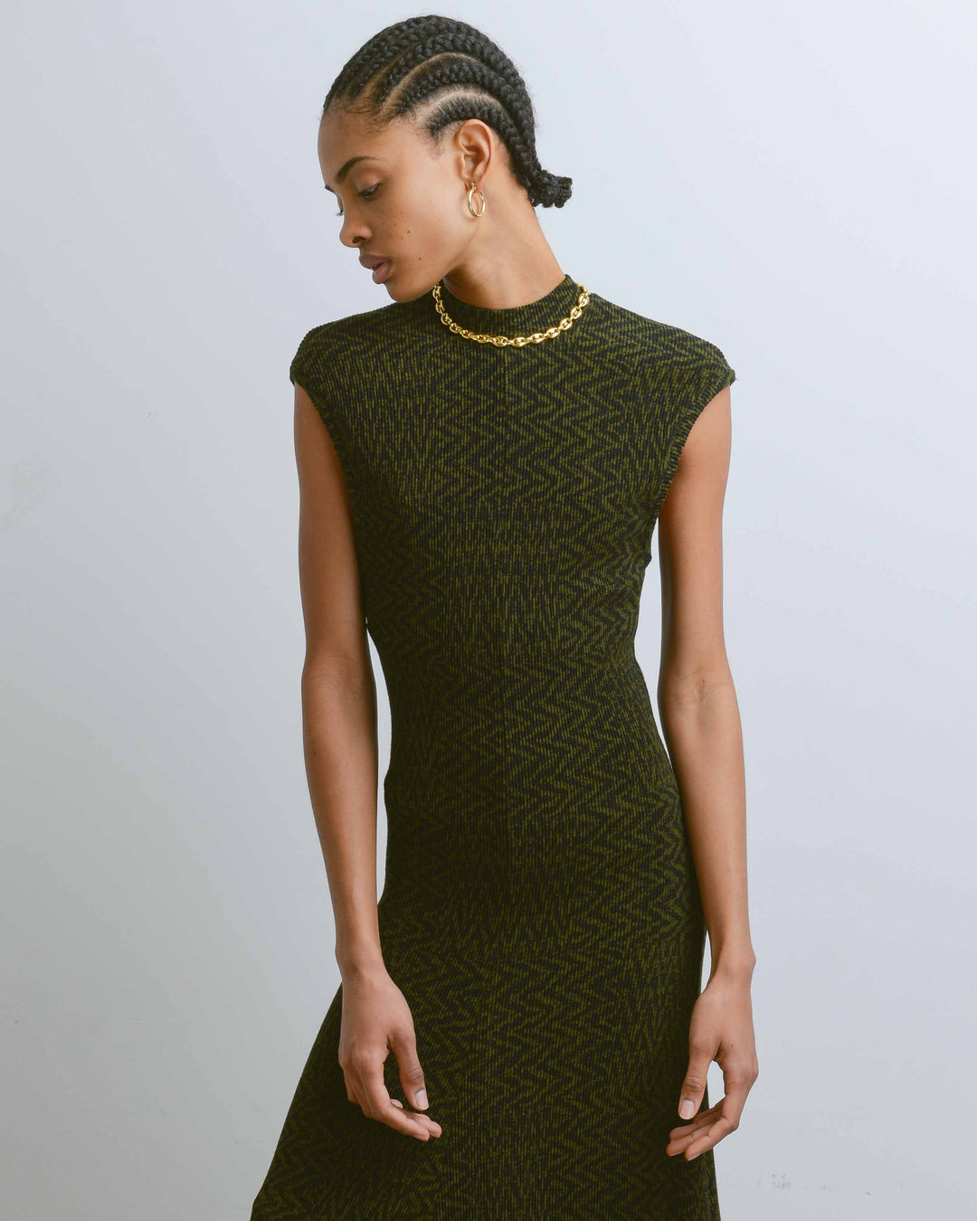 Green & Black Getty Dress