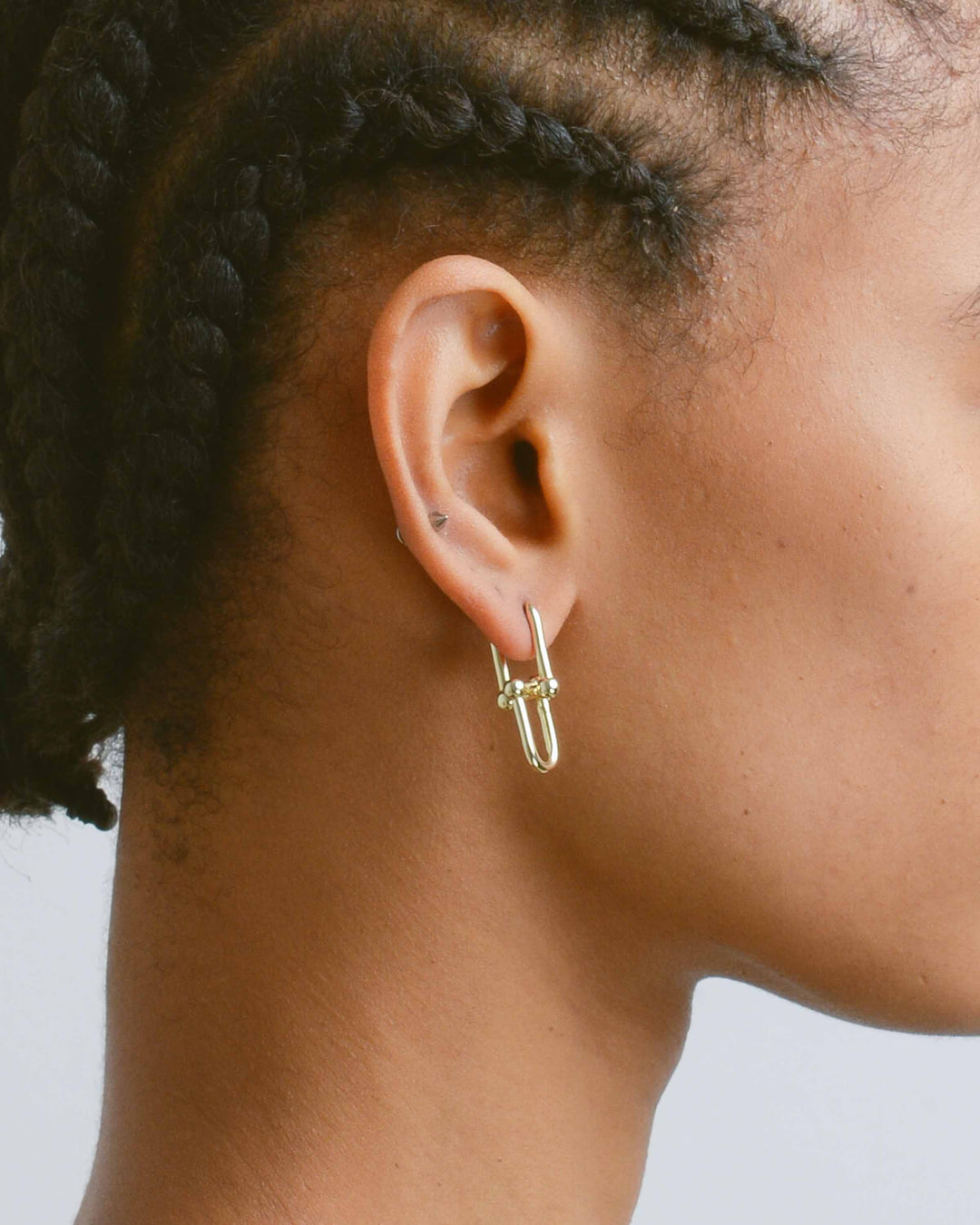 Gold Barbell Earrings