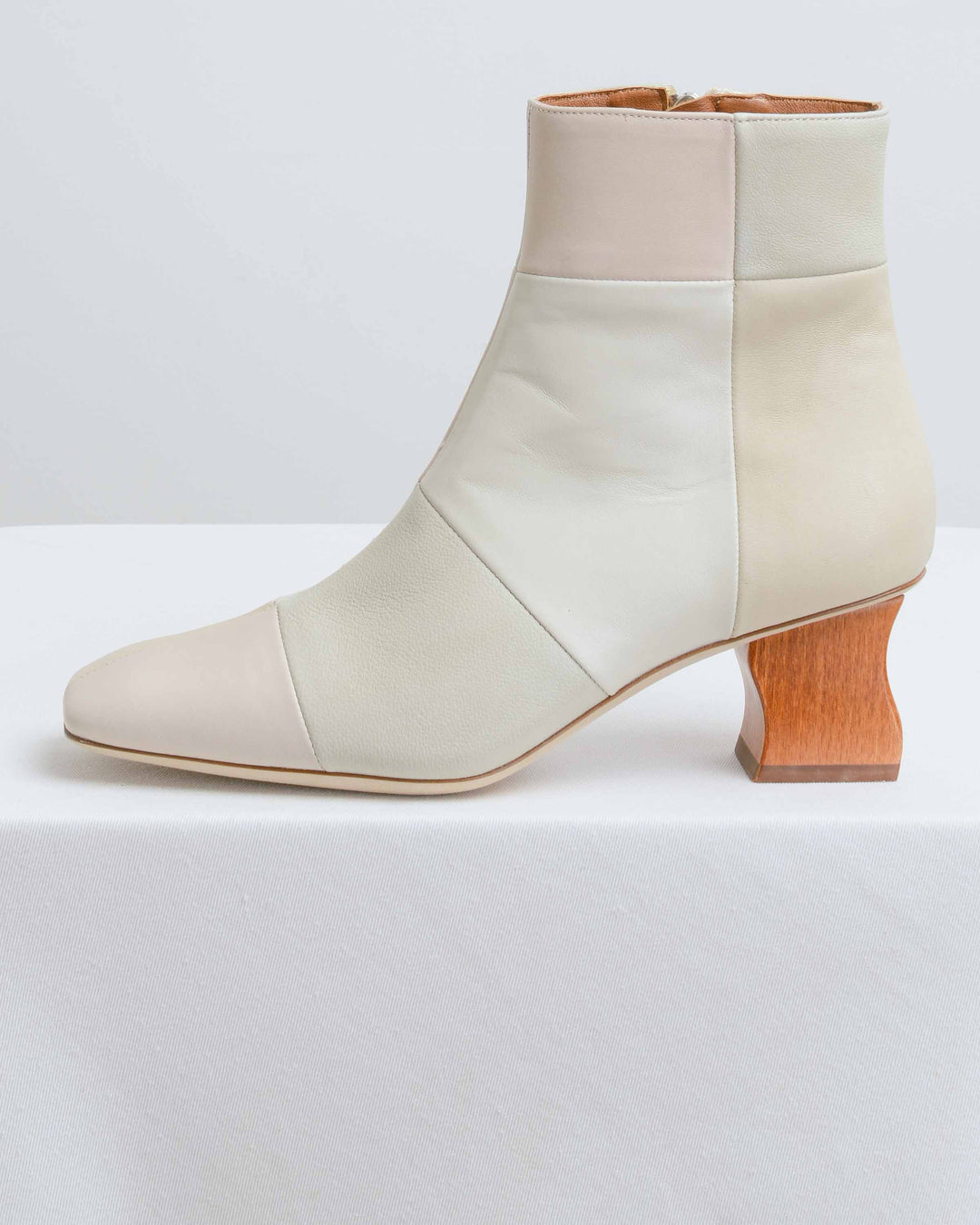 Cream Patchwork Yuki Boot