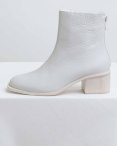 Off White Calf Runyon Bootie