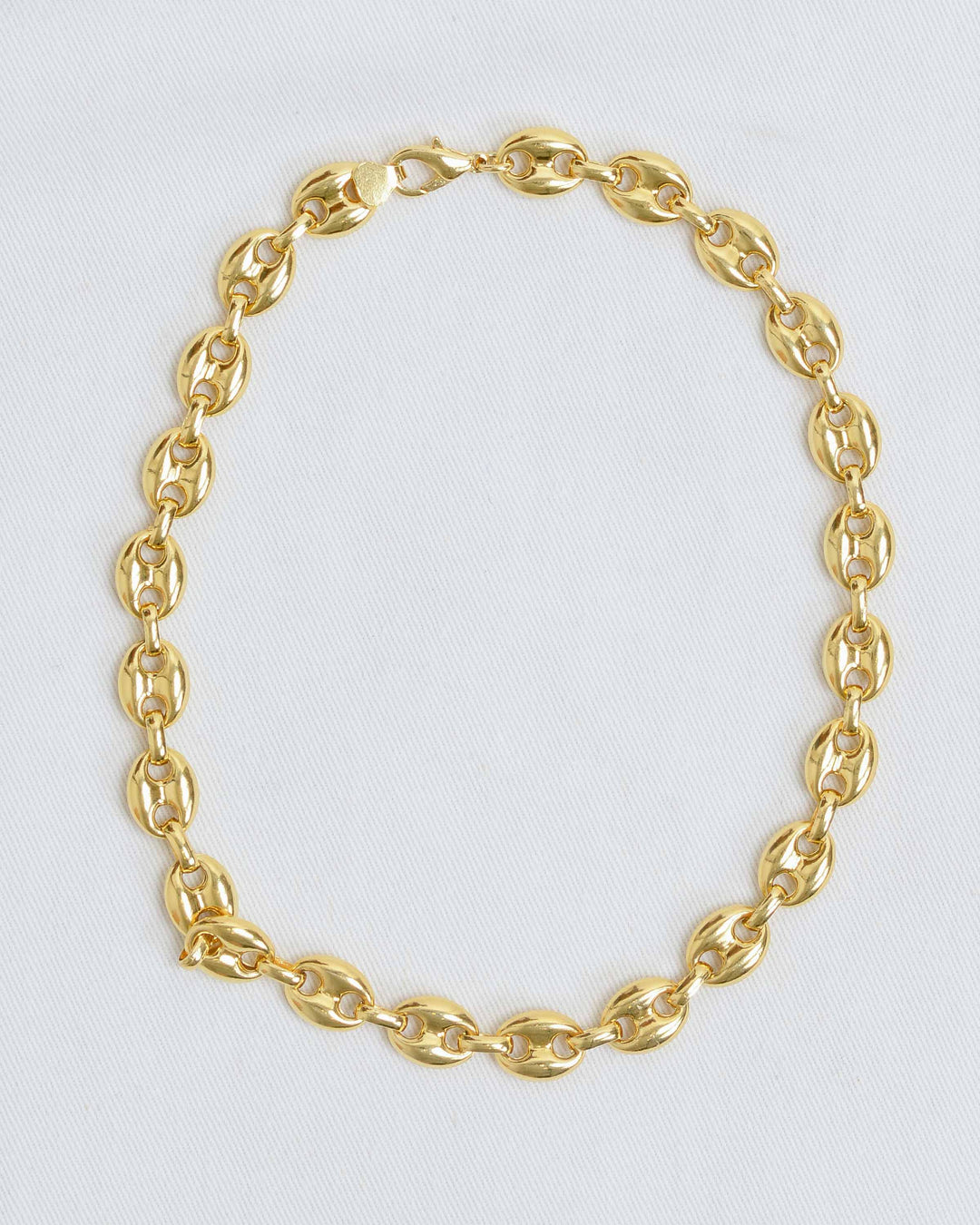 Gold Tab Chain Necklace