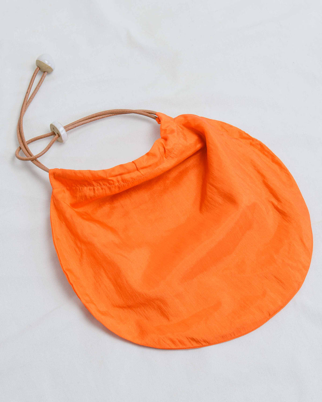 Orange Nylon Circle Tote
