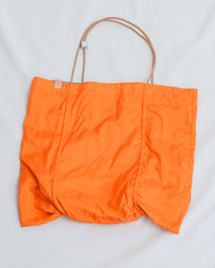 Orange Silver Reversible Square Tote