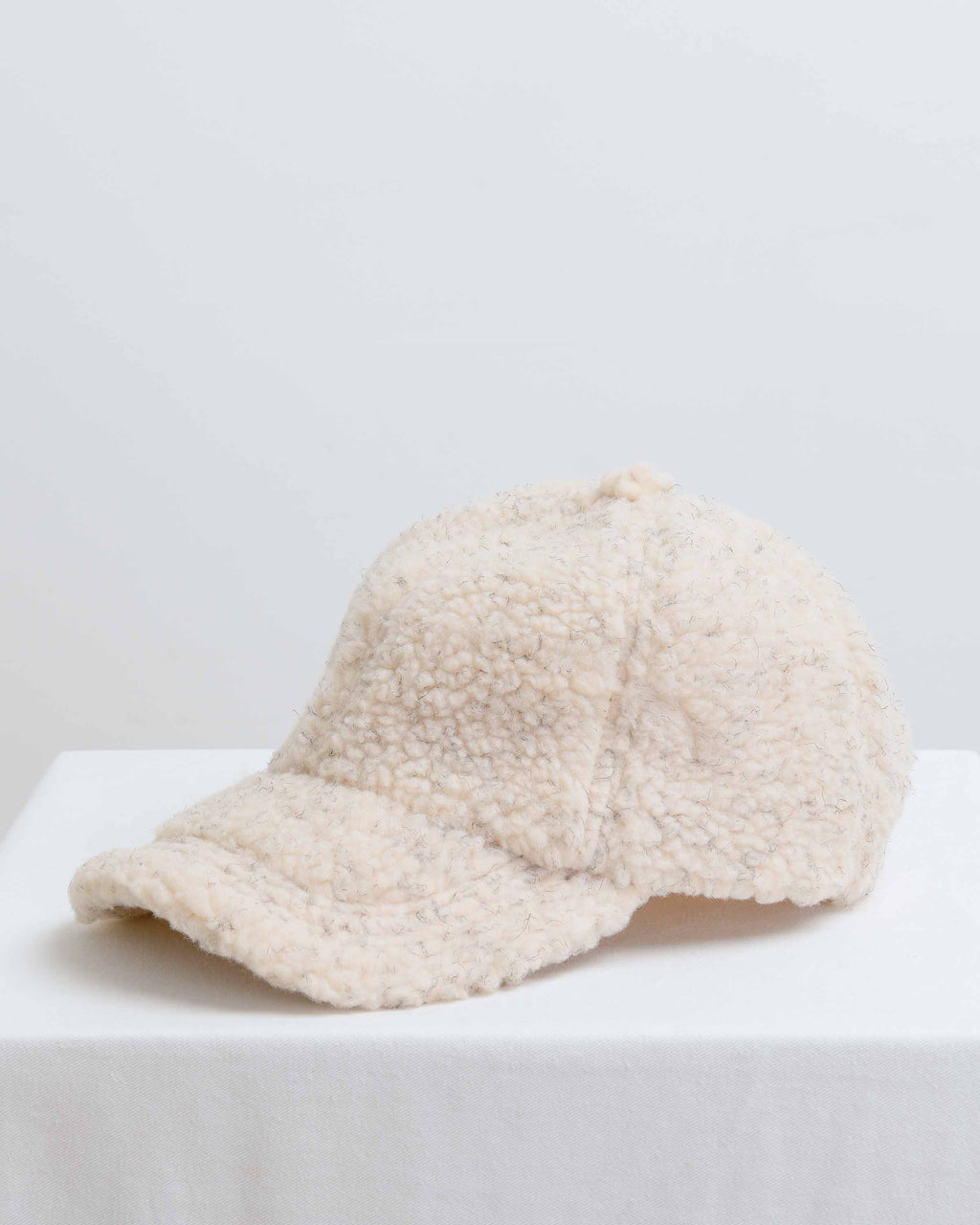 Cream Fleece Cap