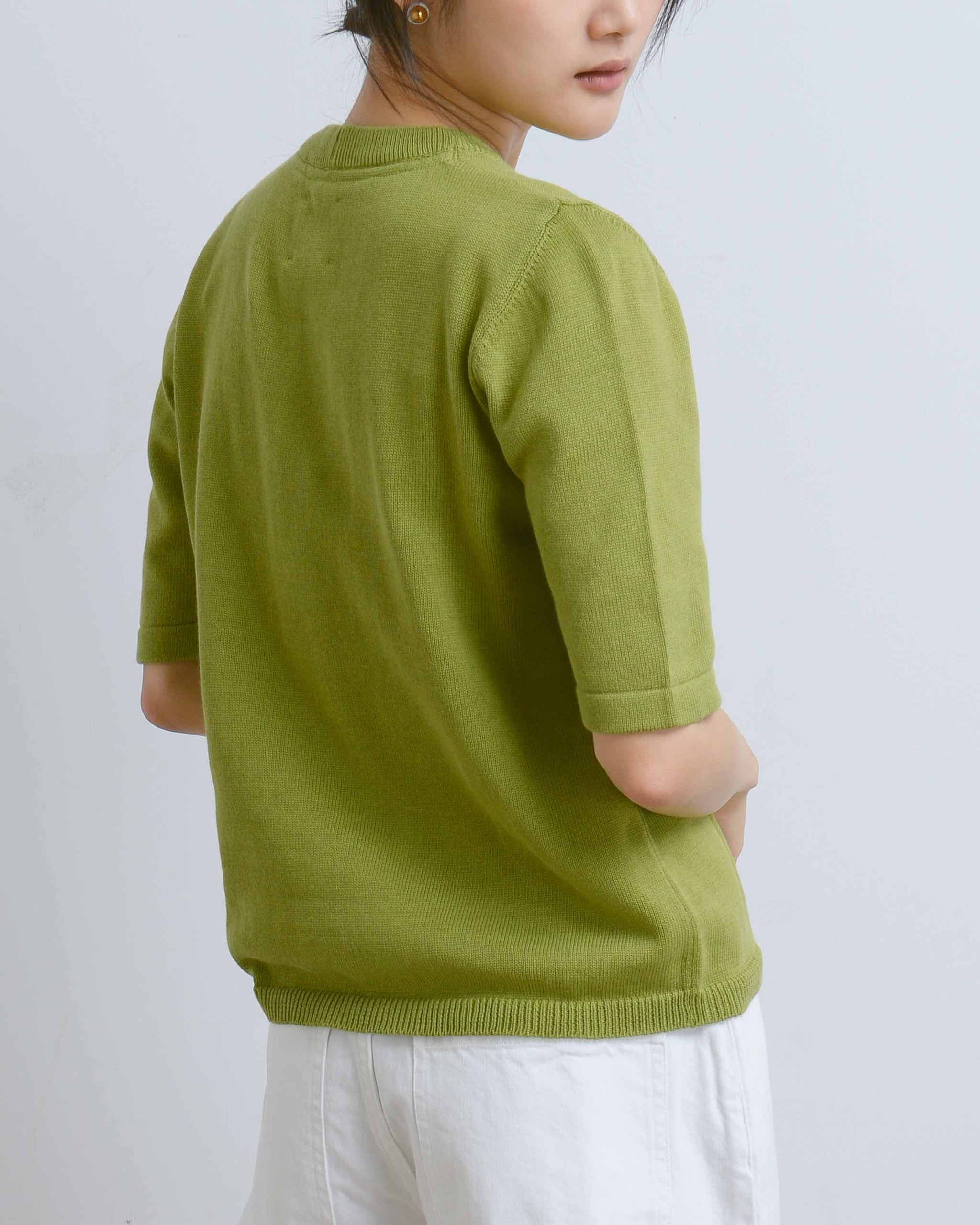 Green Knitted Tee