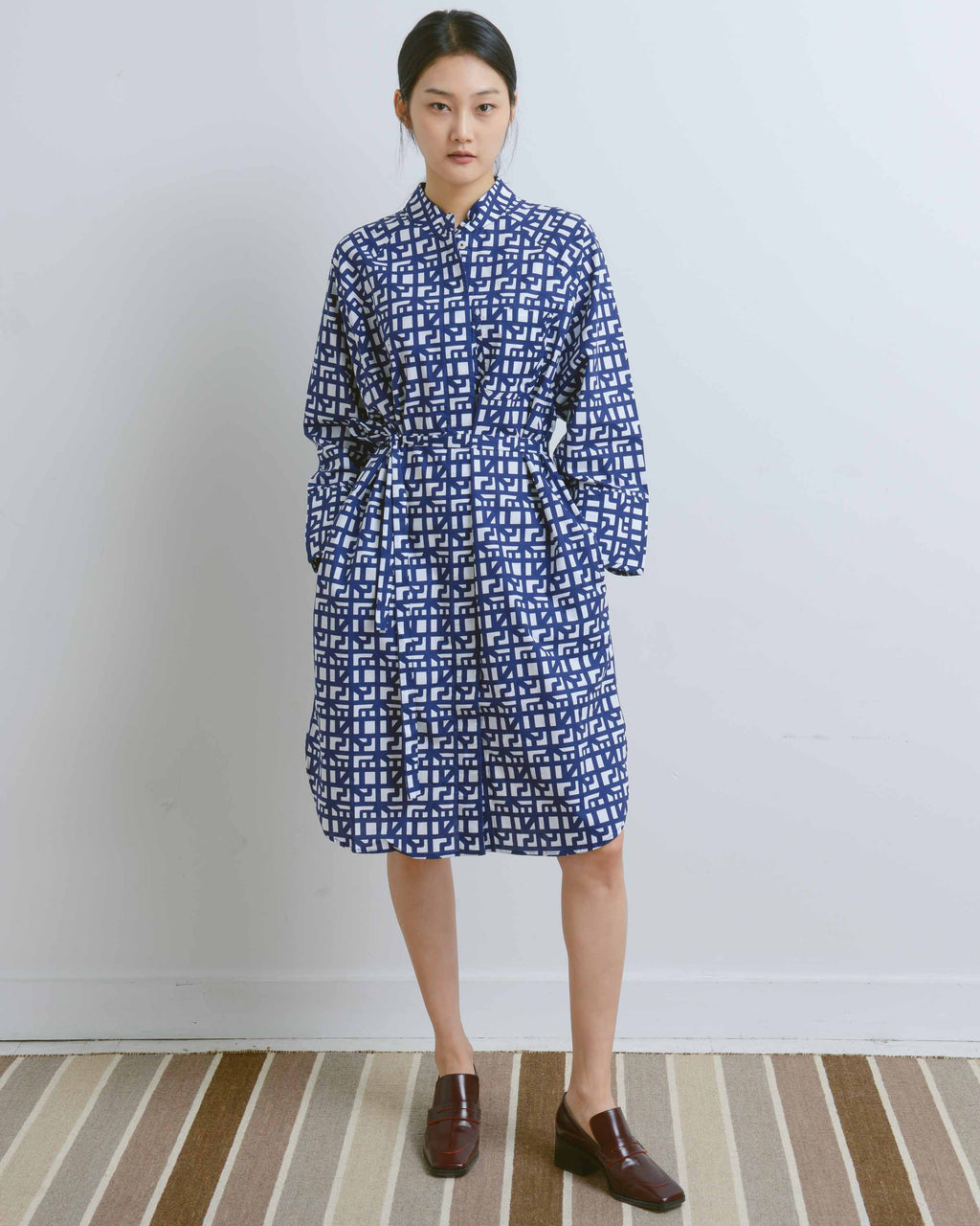 Shadow Print Curator Dress