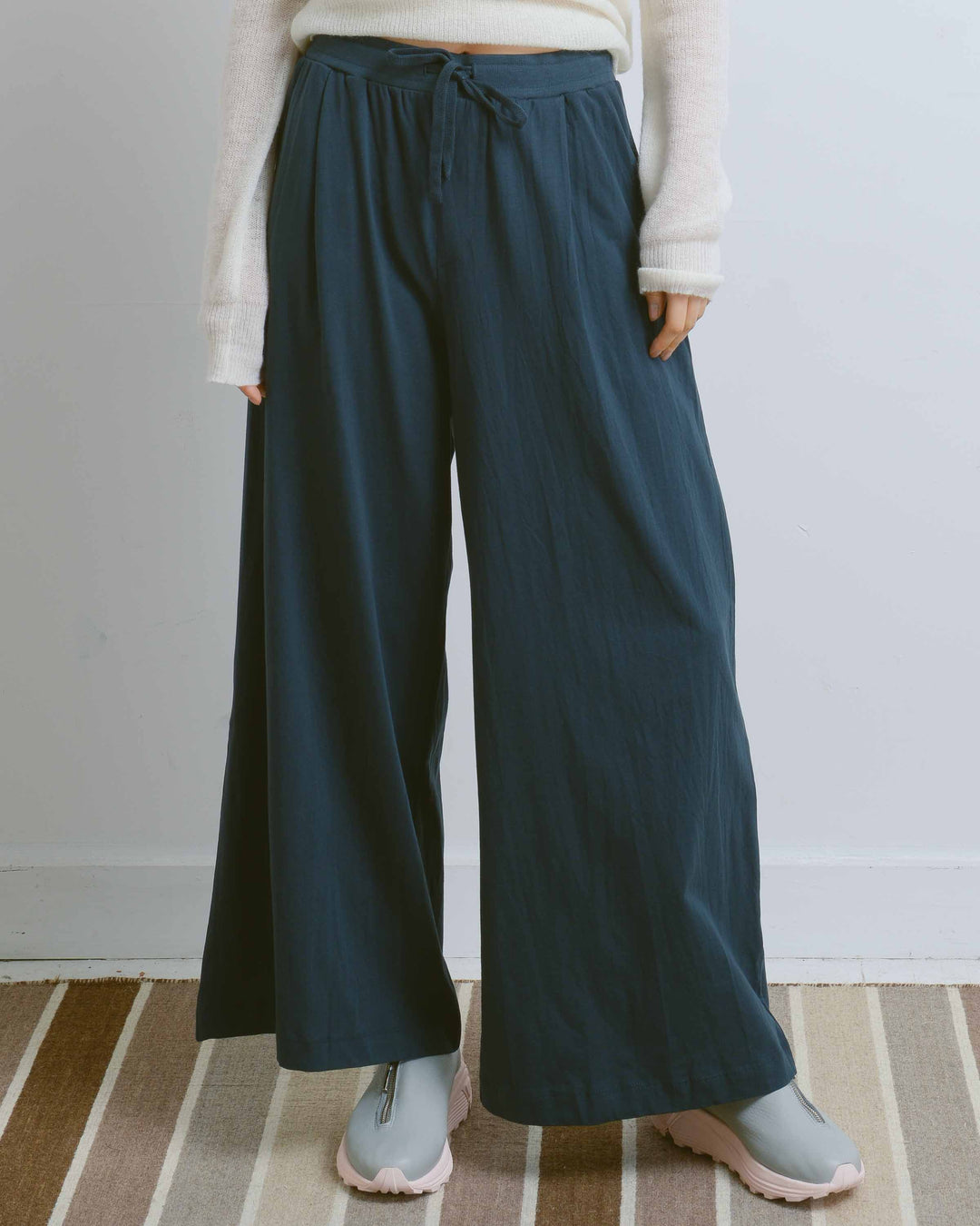 Dark Teal Wide Leg Pant
