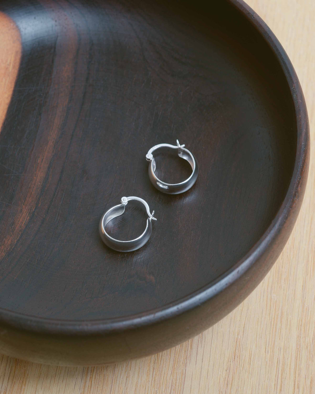 Sterling Silver Small Thick Hoops