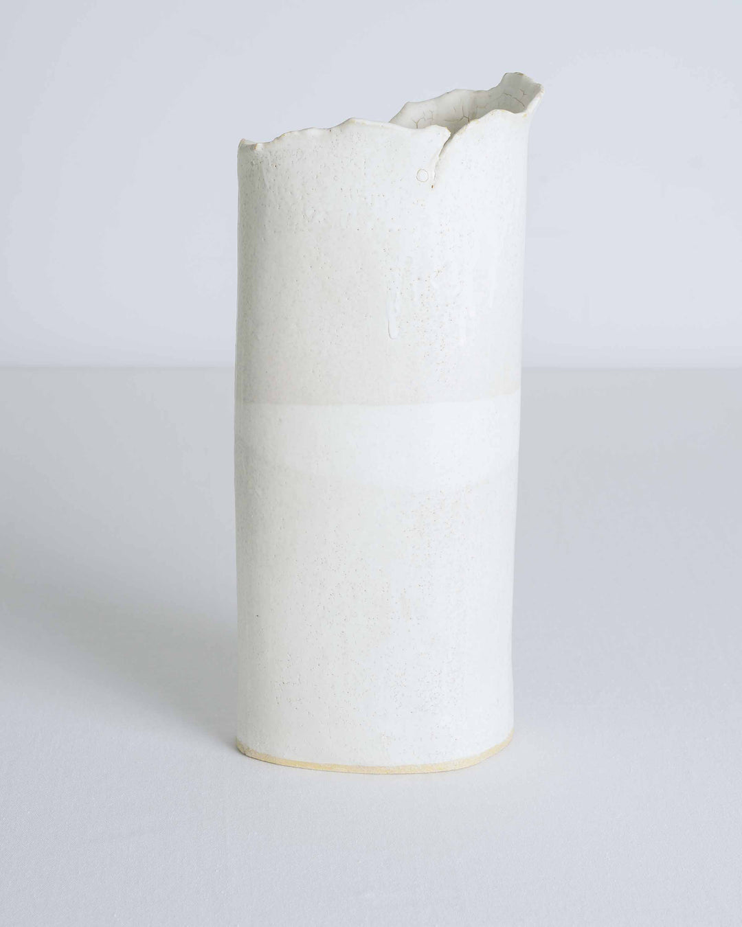 Cream Organic Folds Vessel