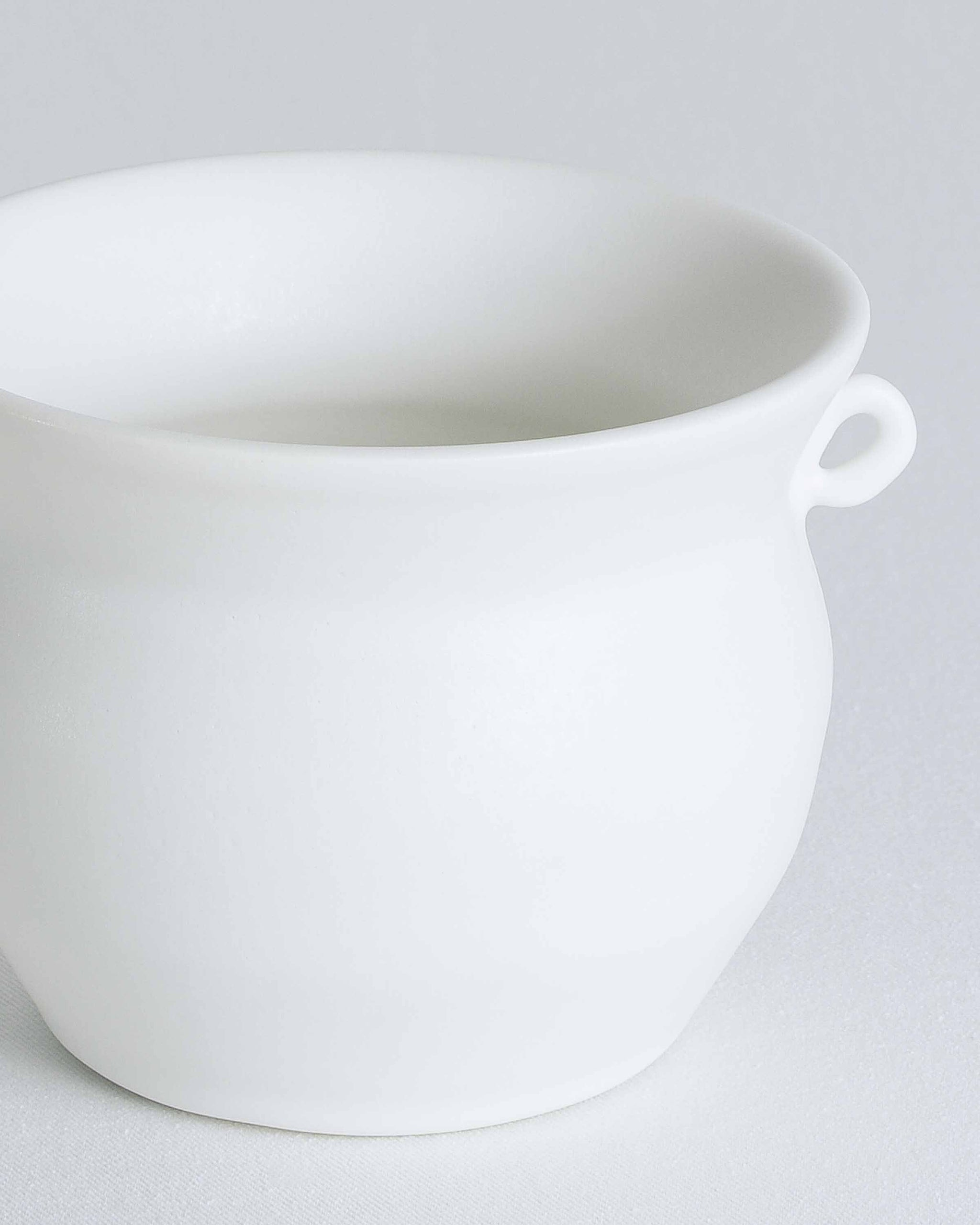 Small White Pot with Handles