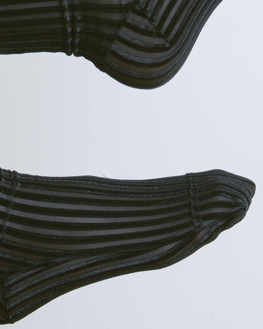Black Ribbed Velvet Socks