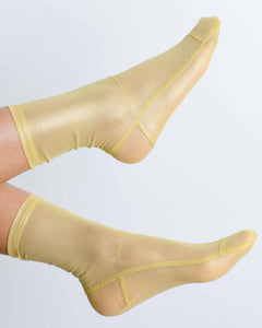 Yellow Foil Socks