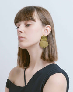 Brass Water Drop Earring