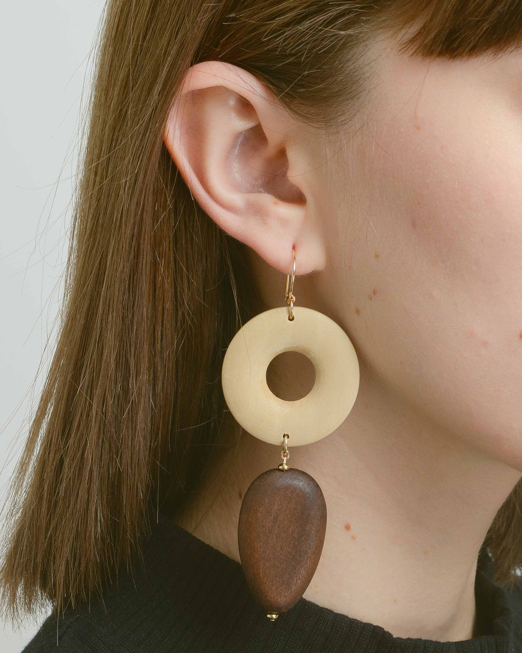 Light & Dark Wood Derrick Earrings