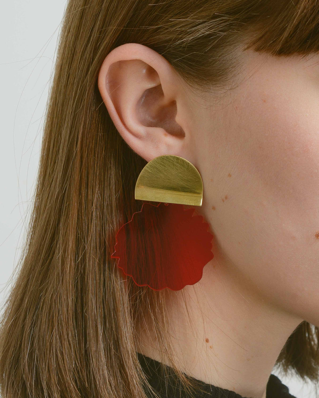 Red Acrylic Water Drop Earring