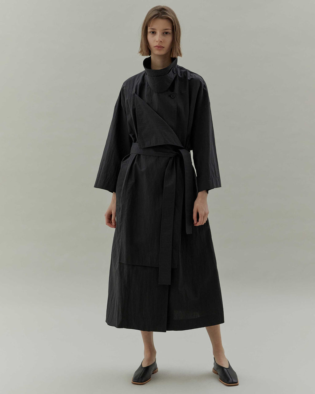 Black Two Way Trench