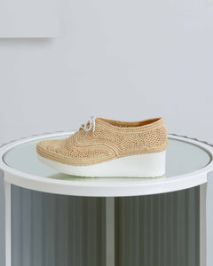 Raffia Vicole Wedge Oxfords