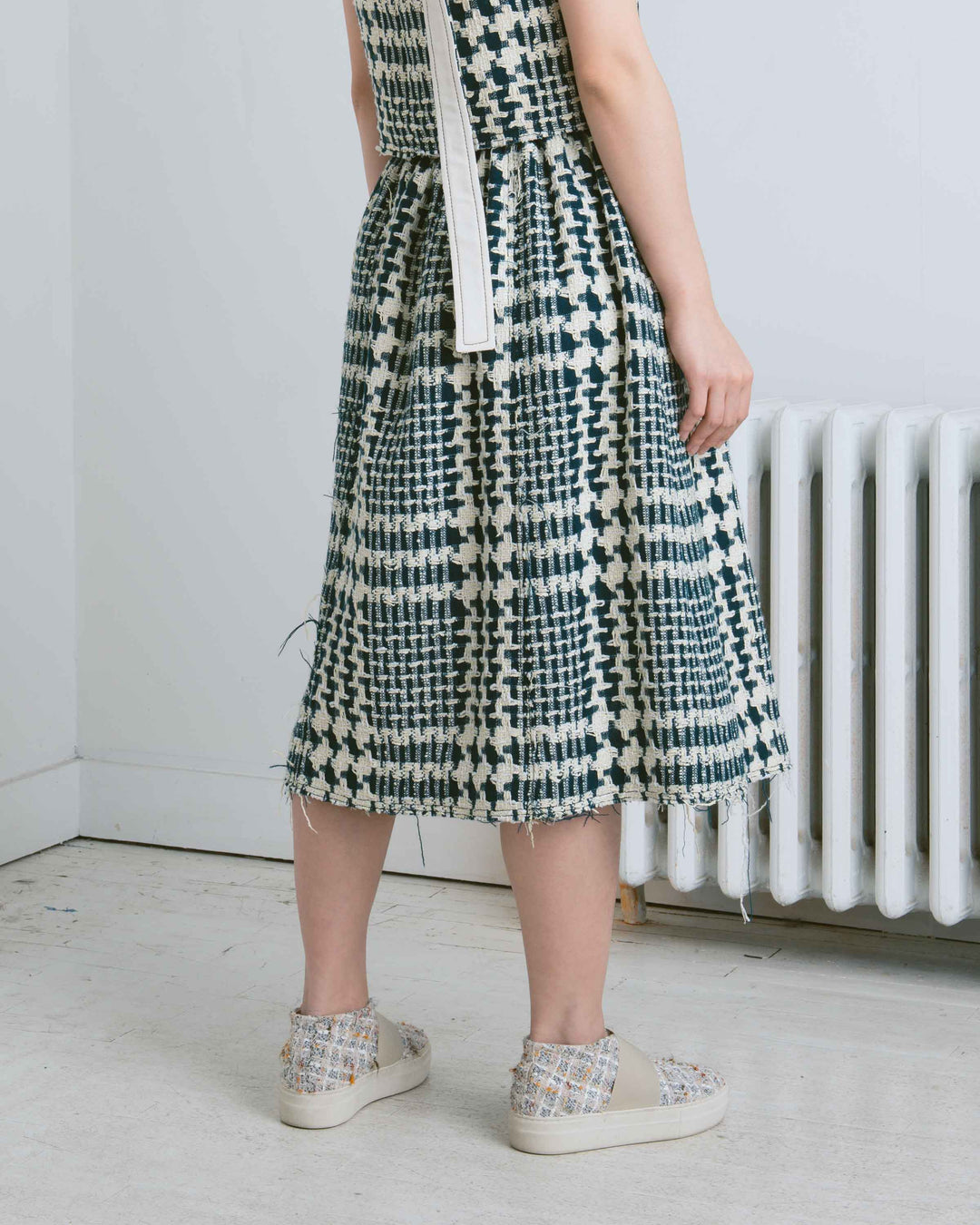 Luke Tweed Belted Skirt