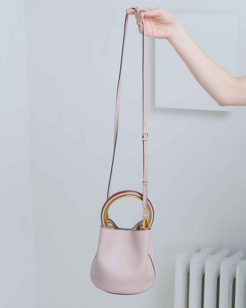 Pink Round Handle Bag
