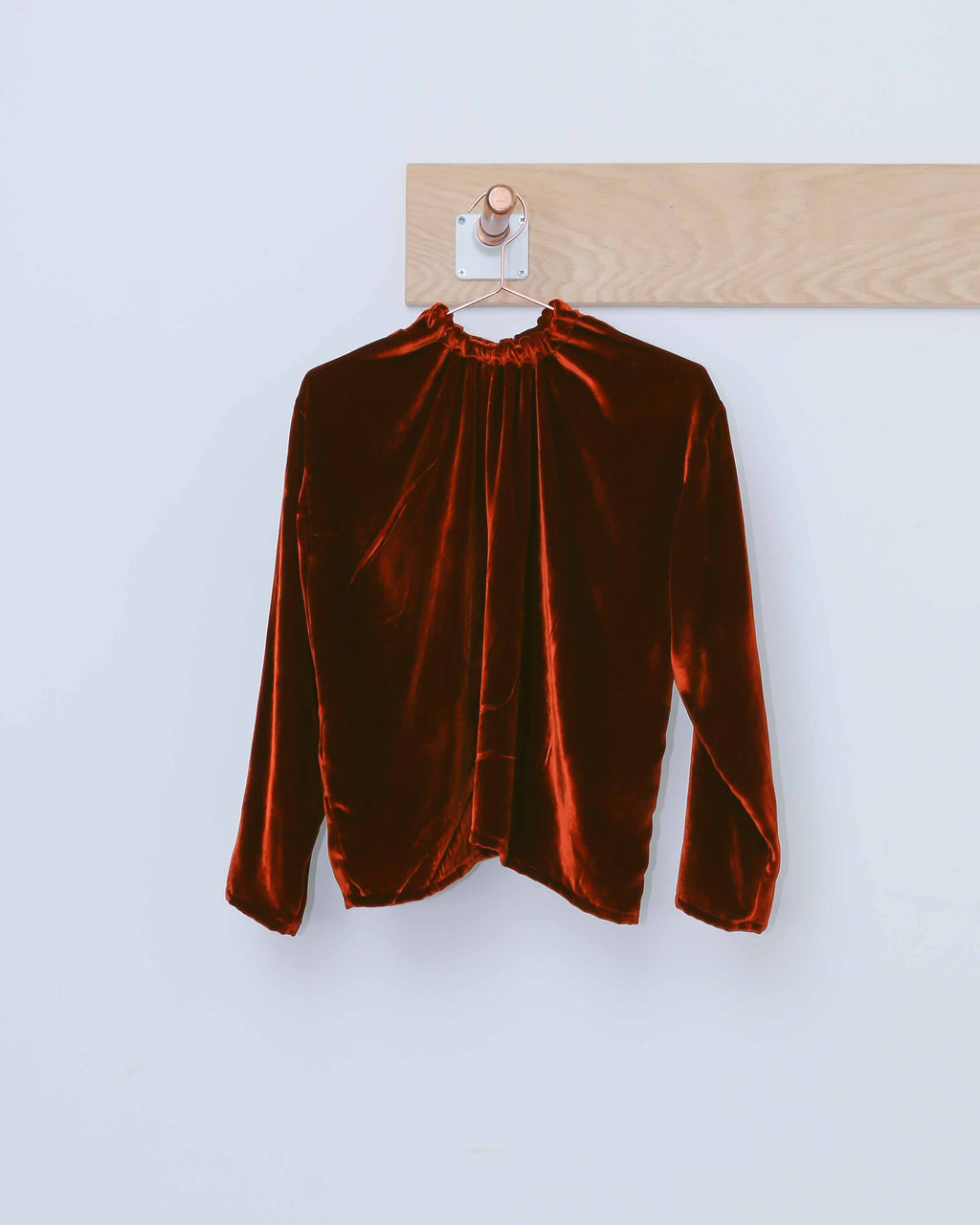 Velvet Double Tie Back Blouse