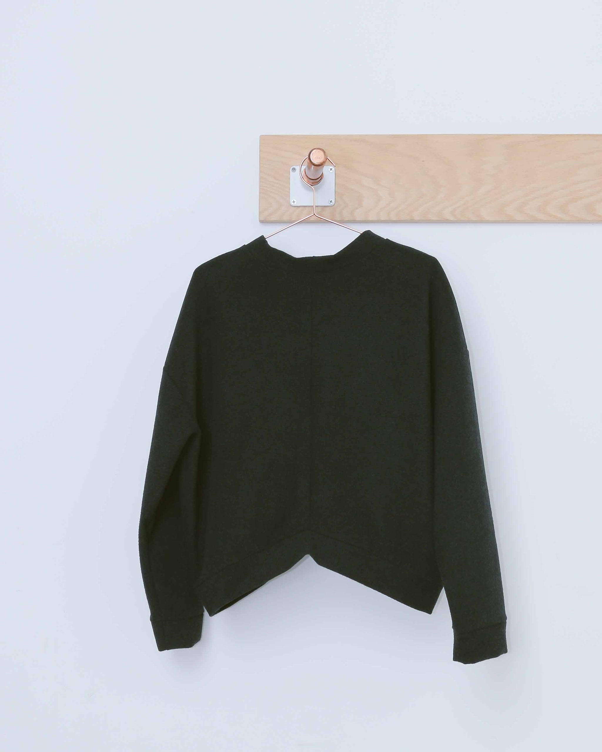 Mid Length Wool Sweatshirt